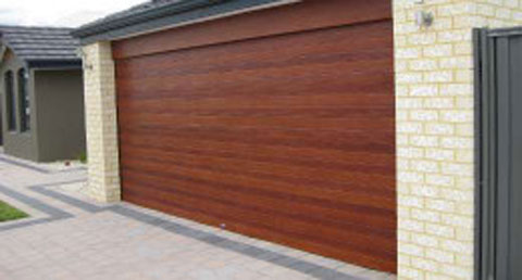 Wood Finish Sectional Door